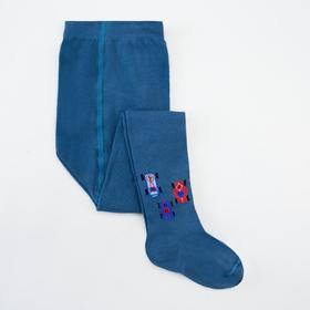 Колготки детские, цвет джинсовый, рост 86-92 см