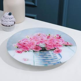 Подставка для торта вращающаяся LARANGE «Розовый букет», d=28 см