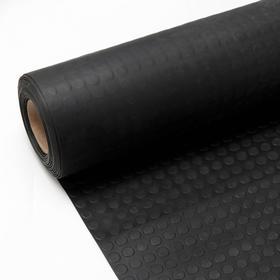Рулонная резиновая дорожка «Пятачок», размер 1х10 м, толщина 3 мм, цвет чёрный