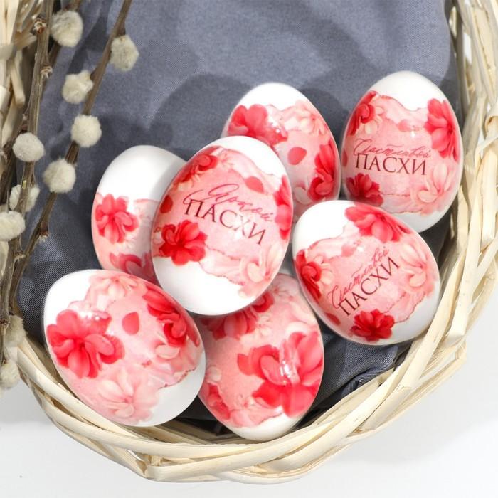 Пасхальная термоплёнка «Розовые цветы», на 7 яиц