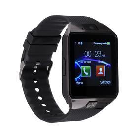 Смарт-часы ZDK DZ09, цветной дисплей, 1.54', микрофон, SIM, microSD, камера, IP68, черные Ош