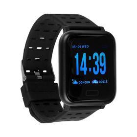 Смарт-часы ZDK A6, цветной дисплей, 0.7', Bluetooth, IP67, черные Ош