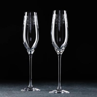Набор бокалов для шампанского Celebration. Европейский декор, 210 мл, 2 шт - Фото 1