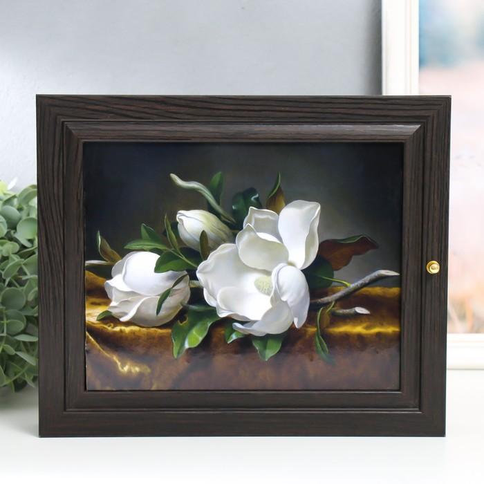 """Ключница """"Белые цветы"""" 26х31 см"""