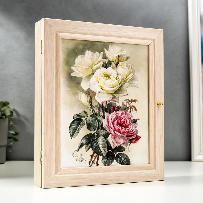 "Ключница ""Бело-розовый букет"" 26х31 см"
