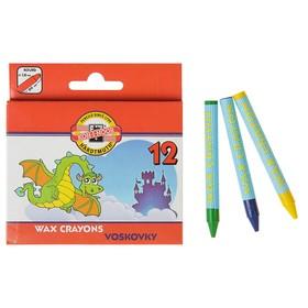 Мелки восковые 12 цветов 7.8 мм, Koh-I-Noor 8232/12, круглые, в картонной упаковке, L=80 мм