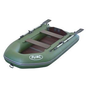 Надувная лодка FLINC FT260L, цвет оливковый
