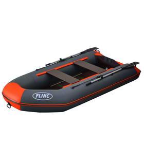 Надувная лодка FLINC FT320K, цвет графитовый/оранжевый