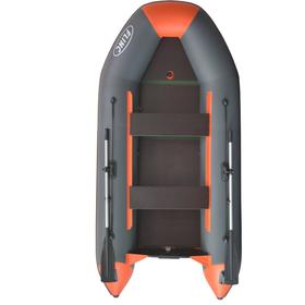 Надувная лодка FLINC FT340K, цвет графитовый/оранжевый