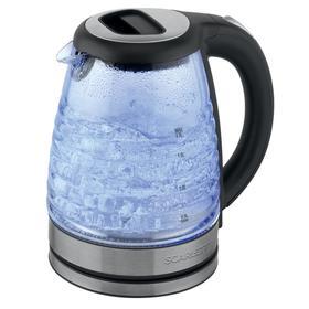 Чайник электрический Scarlett SC-EK27G73, стекло, 1.7 л, 2000 Вт, подсветка, серебристый