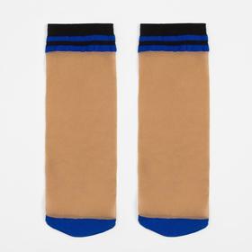 Носки женские, цвет бежевый/синий (daino/blue gul), р-р 23-25 (37-40)