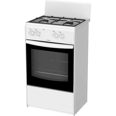 Плита Darina S KM521 300 W, комбинированная, 2 конфорки, 45 л, белая - Фото 1