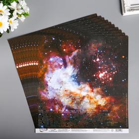 """Бумага для скрапбукинга """"Mr.Painter. Ты моя вселенная 1"""" 190 г/м3, 30.5х30.5 см"""