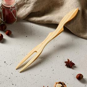 Вилка деревянная из черешни, 28 х 3,5 х 0,6 см