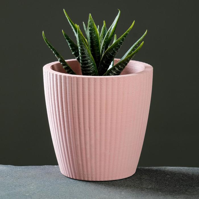 Кашпо «Красота», розовое, 9 х 8 см