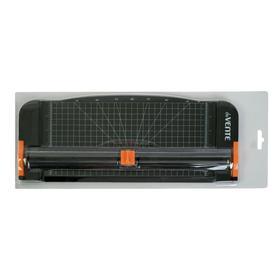 Роликовый резак для бумаги до 12 листов deVENTE, длина реза 320 мм, пластиковый, чёрный Ош