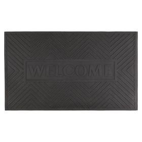 Коврик грязезащитный WELCOME,35х60 см, цвет чёрный