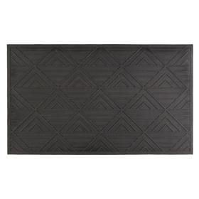 Коврик грязезащитный REVADA, 35х60 см, цвет чёрный