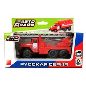 Грузовик с пожарным краном, инерционный, МИКС