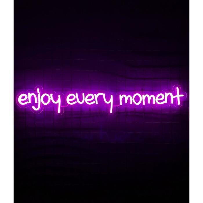 Неоновая вывеска «Enjoy every moment», 102х18 см