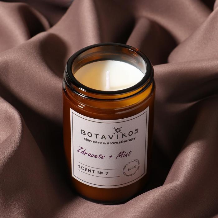 Ароматическая свеча из соевого воска Botavikos, 90 гр, здравец-мята