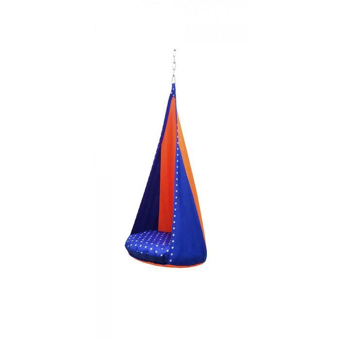 "Гамак тканевый ""Сальса"" сине-оранжевый, 75 х 75 х 150 см"