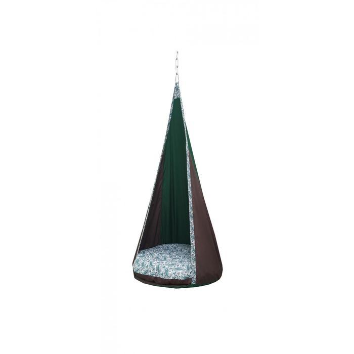 "Гамак тканевый ""Сальса"" коричнево-зеленый, 75 х 75 х 150 см"