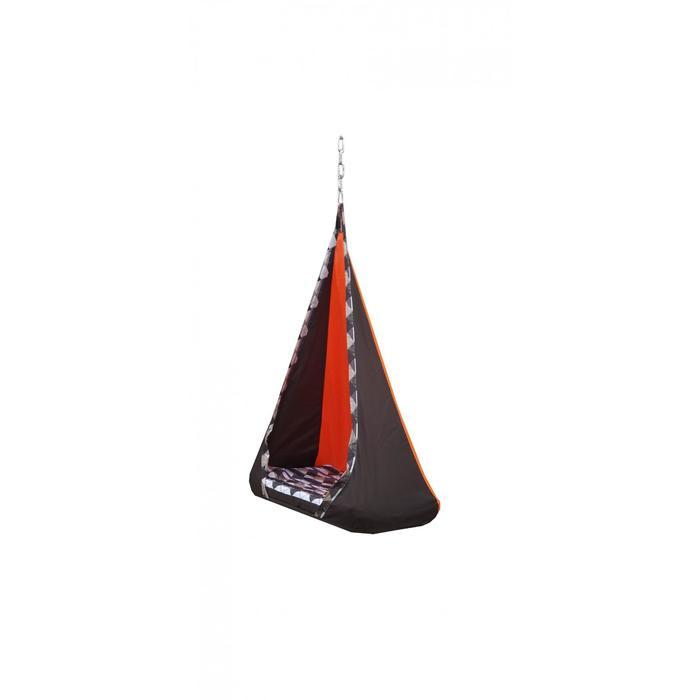 """Гамак тканевый """"Танго"""" коричнево-оранжевый, 56 х 84 х 150 см"""