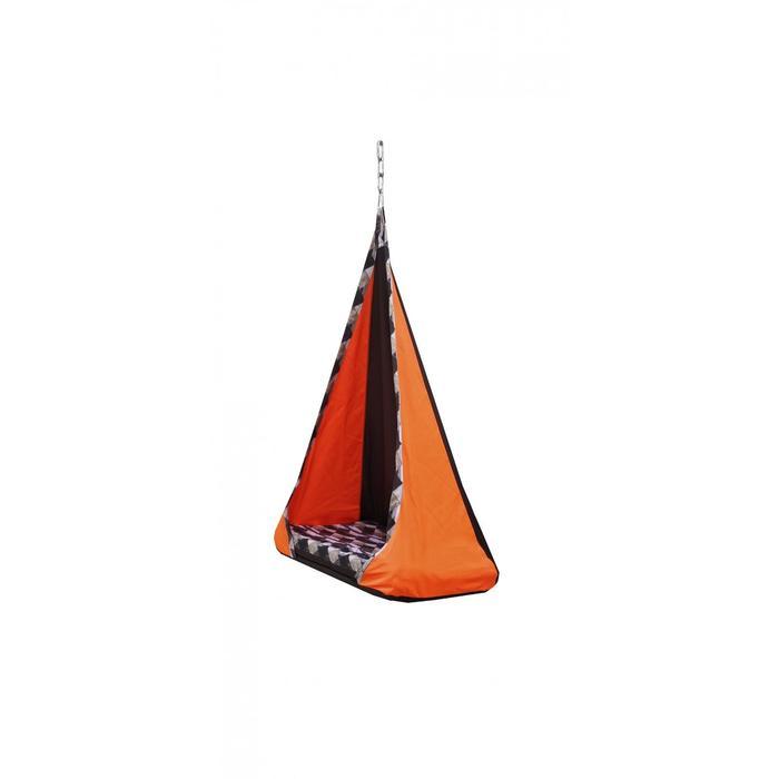 """Гамак тканевый """"Танго"""" оранжево-коричневый, 56 х 84 х 150 см"""