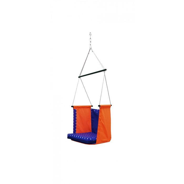 """Гамак тканевый """"Твист"""" оранжево-синий, 56 х 56 х 150 см"""