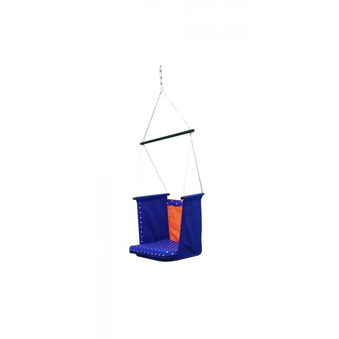 "Гамак тканевый ""Твист"" сине-оранжевый, 56 х 56 х 150 см"