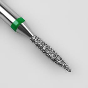Фреза алмазная для маникюра «Пламя», крупная зернистость, 1,4 × 8 мм