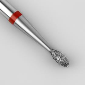 Фреза алмазная для маникюра «Эллипс», мелкая зернистость, 1,6 × 3,6 мм