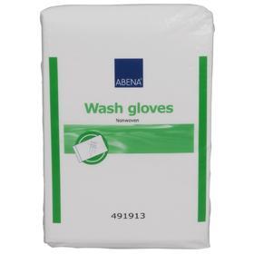 Рукавицы для мытья Abena Wash gloves Nonwoven 16x23 см, 50 шт