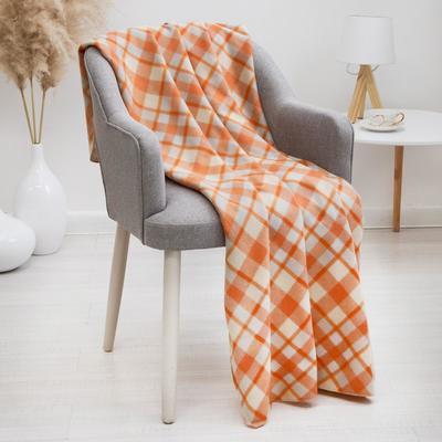 Плед «Бриз», цвет оранжевый, 120х150 см