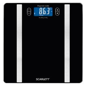 Весы напольные Scarlett BS34ED42, диагностические, до 180 кг, 1хCR2032, стекло, чёрные