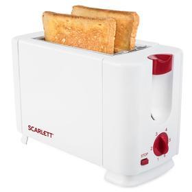 Тостер Scarlett SC-TM11013, 700 Вт, 6 режимов прожарки, 2 тоста, белый