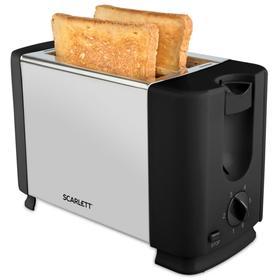 Тостер Scarlett SC-TM11012, 700 Вт, 6 режимов прожарки, 2 тоста, серебристый/чёрный Ош