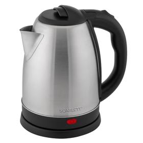 Чайник электрический Scarlett SC-EK21S29, металл, 1.8 л, 1800 Вт, серебристый