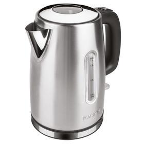 Чайник электрический Scarlett SC-EK21S68, металл, 1.7 л, 2200 Вт, серебристый