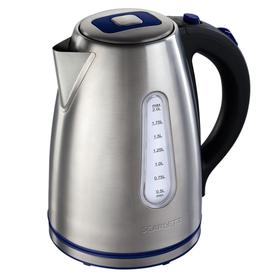 Чайник электрический Scarlett SC-EK21S57, металл, 2 л, 2200 Вт, серебристый