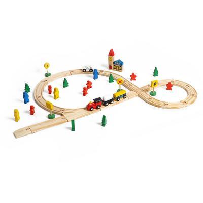 Деревянная игрушка «Железная дорога», 48 деталей - Фото 1