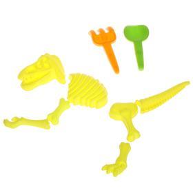 Песочный набор «Раскопки динозавра», 9 предметов, Микс