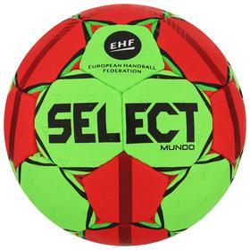 Мяч гандбольный SELECT Mundo, Lille, размер 0, ПУ, ручная сшивка, цвет зелёный/красный Ош