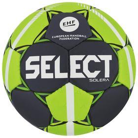 Мяч гандбольный SELECT Solera, Lille, размер 2, EHF Appr, 32 пан, ПУ, ручная сшивка, цвет серый Ош