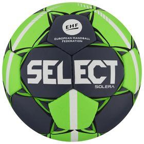 Мяч гандбольный SELECT Solera, Senior, размер 3, EHF Appr, ПУ, ручная сшивка, цвет серый/лайм Ош