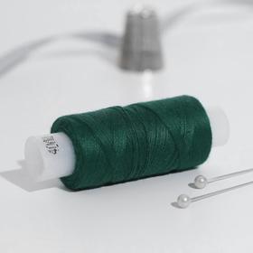 Нитки 40ЛШ, 200 м, цвет темно-зелёный №3510 Ош