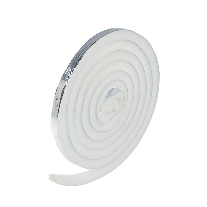 Уплотнитель для окон, 10х10 мм, поролоновый, на клейкой основе, в упаковке 10 м