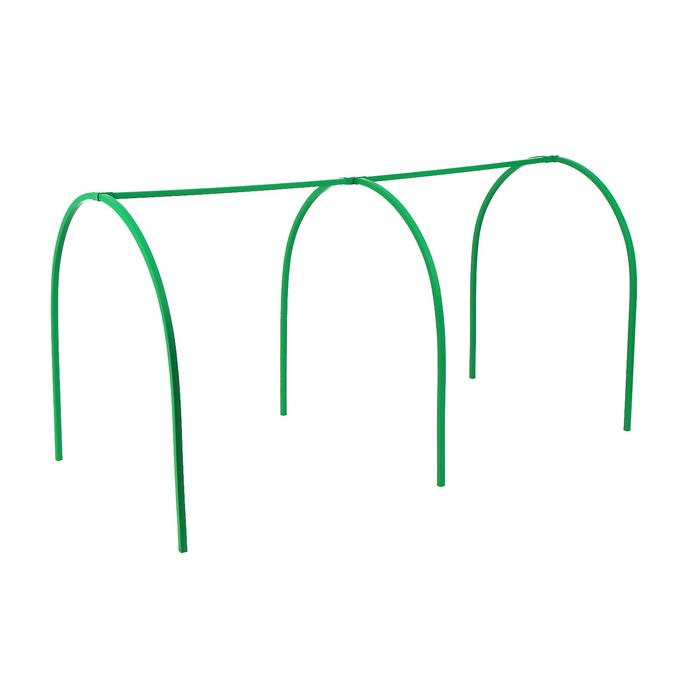 Каркас парника, 2 × 1 × 1 м, пластиковая профильная труба 22 × 22 мм, зелёный