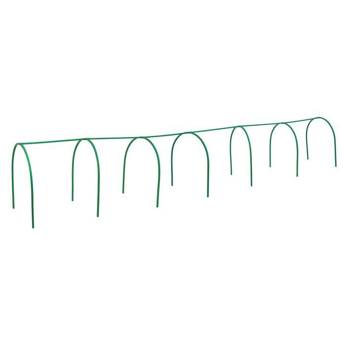 Каркас парника, 6 × 1 × 1 м, пластиковая профильная труба 22 × 22 мм, зелёный